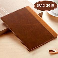 Handytasche Stand Schutzhülle Leder L06 für Apple New iPad 9.7 (2018) Braun