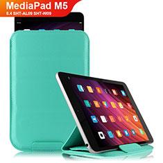 Handytasche Stand Schutzhülle Leder L06 für Huawei MediaPad M5 8.4 SHT-AL09 SHT-W09 Cyan