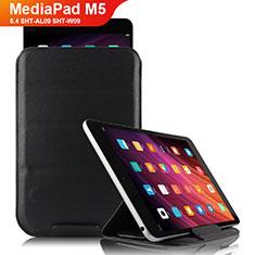 Handytasche Stand Schutzhülle Leder L06 für Huawei MediaPad M5 8.4 SHT-AL09 SHT-W09 Schwarz