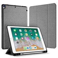 Handytasche Stand Schutzhülle Leder L07 für Apple iPad Pro 10.5 Grau