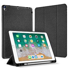 Handytasche Stand Schutzhülle Leder L07 für Apple iPad Pro 10.5 Schwarz