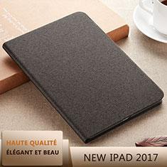 Handytasche Stand Schutzhülle Leder L07 für Apple New iPad 9.7 (2017) Schwarz