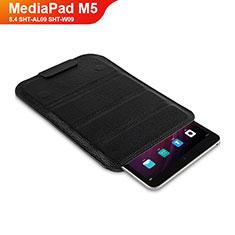 Handytasche Stand Schutzhülle Leder L07 für Huawei MediaPad M5 8.4 SHT-AL09 SHT-W09 Schwarz