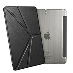 Handytasche Stand Schutzhülle Leder L08 für Apple New iPad 9.7 (2017) Schwarz