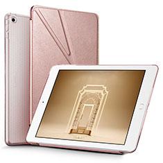 Handytasche Stand Schutzhülle Leder L08 für Apple New iPad 9.7 (2018) Rosegold