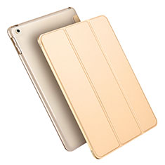 Handytasche Stand Schutzhülle Leder L09 für Apple New iPad 9.7 (2018) Gold
