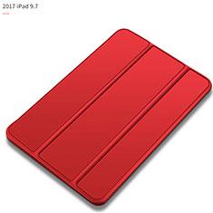 Handytasche Stand Schutzhülle Leder L09 für Apple New iPad 9.7 (2018) Rot