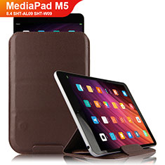 Handytasche Stand Schutzhülle Leder L09 für Huawei MediaPad M5 8.4 SHT-AL09 SHT-W09 Braun