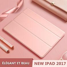 Handytasche Stand Schutzhülle Leder L10 für Apple New iPad 9.7 (2017) Rosegold