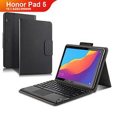 Handytasche Stand Schutzhülle Leder mit Tastatur für Huawei Honor Pad 5 10.1 AGS2-W09HN AGS2-AL00HN Schwarz