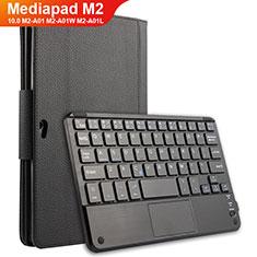 Handytasche Stand Schutzhülle Leder mit Tastatur für Huawei MediaPad M2 10.0 M2-A01 M2-A01W M2-A01L Schwarz