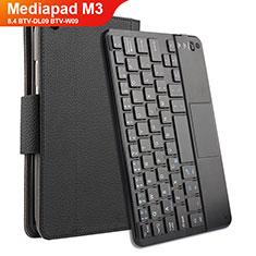 Handytasche Stand Schutzhülle Leder mit Tastatur für Huawei Mediapad M3 8.4 BTV-DL09 BTV-W09 Schwarz