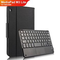 Handytasche Stand Schutzhülle Leder mit Tastatur für Huawei MediaPad M3 Lite 10.1 BAH-W09 Schwarz
