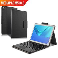 Handytasche Stand Schutzhülle Leder mit Tastatur für Huawei MediaPad M5 10.8 Schwarz