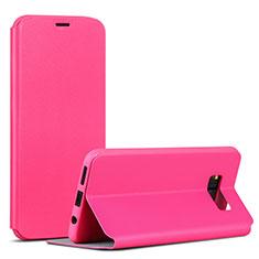 Handytasche Stand Schutzhülle Leder P01 für Samsung Galaxy S8 Plus Pink