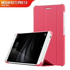 Handytasche Stand Schutzhülle Leder R01 für Huawei MediaPad T2 Pro 7.0 PLE-703L Pink