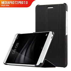 Handytasche Stand Schutzhülle Leder R01 für Huawei MediaPad T2 Pro 7.0 PLE-703L Schwarz