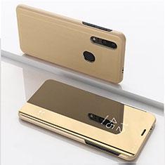Handytasche Stand Schutzhülle Leder Rahmen Spiegel Tasche für Huawei Enjoy 9s Gold