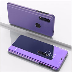 Handytasche Stand Schutzhülle Leder Rahmen Spiegel Tasche für Huawei Honor 20 Lite Violett