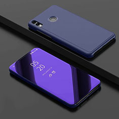 Handytasche Stand Schutzhülle Leder Rahmen Spiegel Tasche für Huawei Honor View 10 Lite Blau