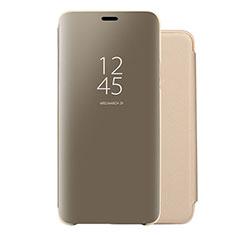 Handytasche Stand Schutzhülle Leder Rahmen Spiegel Tasche für Huawei Nova 5 Pro Gold