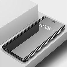 Handytasche Stand Schutzhülle Leder Rahmen Spiegel Tasche für Huawei P Smart (2019) Schwarz