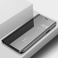 Handytasche Stand Schutzhülle Leder Rahmen Spiegel Tasche für Huawei P20 Lite Schwarz