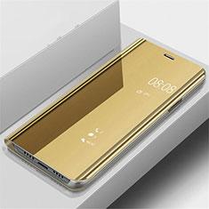 Handytasche Stand Schutzhülle Leder Rahmen Spiegel Tasche für OnePlus 7 Pro Gold