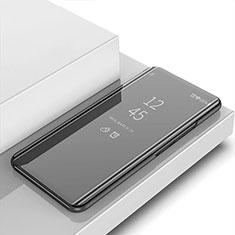 Handytasche Stand Schutzhülle Leder Rahmen Spiegel Tasche für OnePlus 7T Schwarz