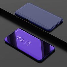 Handytasche Stand Schutzhülle Leder Rahmen Spiegel Tasche für Oppo Find X Super Flash Edition Blau