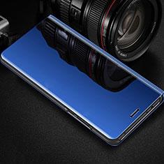 Handytasche Stand Schutzhülle Leder Rahmen Spiegel Tasche für Oppo RX17 Pro Blau