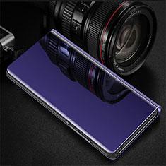 Handytasche Stand Schutzhülle Leder Rahmen Spiegel Tasche für Oppo RX17 Pro Violett