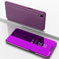 Handytasche Stand Schutzhülle Leder Rahmen Spiegel Tasche für Samsung Galaxy A10 Pink