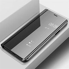 Handytasche Stand Schutzhülle Leder Rahmen Spiegel Tasche für Samsung Galaxy A70 Schwarz