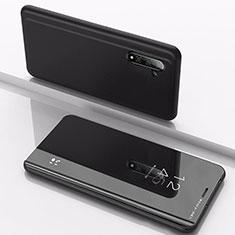 Handytasche Stand Schutzhülle Leder Rahmen Spiegel Tasche für Samsung Galaxy Note 10 Schwarz