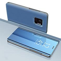 Handytasche Stand Schutzhülle Leder Rahmen Spiegel Tasche für Samsung Galaxy S9 Blau