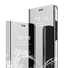 Handytasche Stand Schutzhülle Leder Rahmen Spiegel Tasche für Xiaomi Mi 8 Pro Global Version Silber