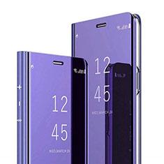 Handytasche Stand Schutzhülle Leder Rahmen Spiegel Tasche für Xiaomi Mi 8 Pro Global Version Violett