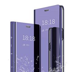Handytasche Stand Schutzhülle Leder Rahmen Spiegel Tasche für Xiaomi Mi A2 Violett