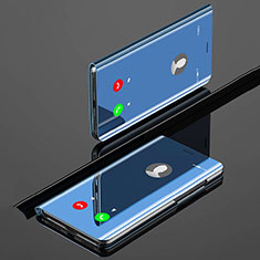 Handytasche Stand Schutzhülle Leder Rahmen Spiegel Tasche für Xiaomi Mi A3 Blau
