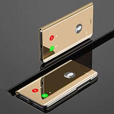 Handytasche Stand Schutzhülle Leder Rahmen Spiegel Tasche für Xiaomi Mi A3 Gold