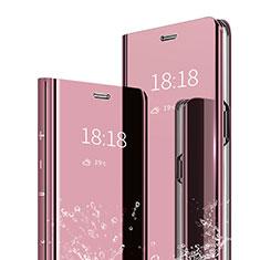 Handytasche Stand Schutzhülle Leder Rahmen Spiegel Tasche für Xiaomi Mi Max 3 Rosegold