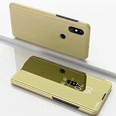 Handytasche Stand Schutzhülle Leder Rahmen Spiegel Tasche für Xiaomi Mi Mix 3 Gold
