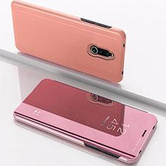 Handytasche Stand Schutzhülle Leder Rahmen Spiegel Tasche für Xiaomi Redmi 8 Rosegold
