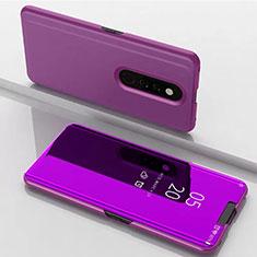 Handytasche Stand Schutzhülle Leder Rahmen Spiegel Tasche für Xiaomi Redmi K20 Violett