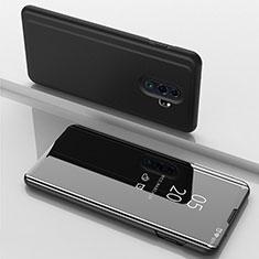 Handytasche Stand Schutzhülle Leder Rahmen Spiegel Tasche für Xiaomi Redmi Note 8 Pro Schwarz