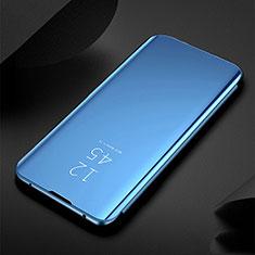 Handytasche Stand Schutzhülle Leder Rahmen Spiegel Tasche für Xiaomi Redmi Note 8T Blau