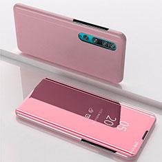 Handytasche Stand Schutzhülle Leder Rahmen Spiegel Tasche L04 für Xiaomi Mi 10 Rosegold
