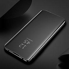 Handytasche Stand Schutzhülle Leder Rahmen Spiegel Tasche M03 für Samsung Galaxy S20 Ultra Schwarz