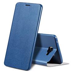 Handytasche Stand Schutzhülle Leder S01 für Samsung Galaxy A9 Pro (2016) SM-A9100 Blau